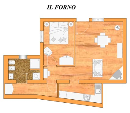 Il Forno - apartment plan