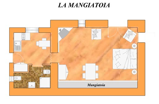 La Mangiatoia - apartment plan